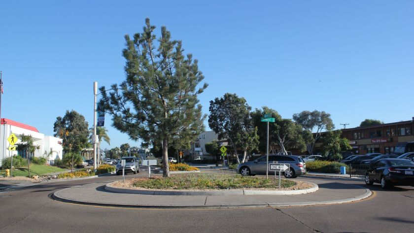 One of the roundabouts along La Jolla Boulevard in Bird Rock.