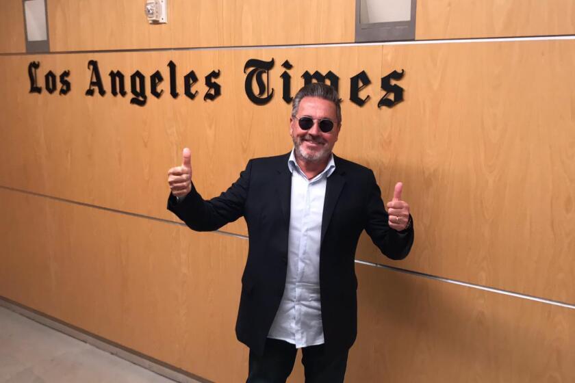 Ricardo Montaner en su visita a nuestros estudios de LA Times en Español