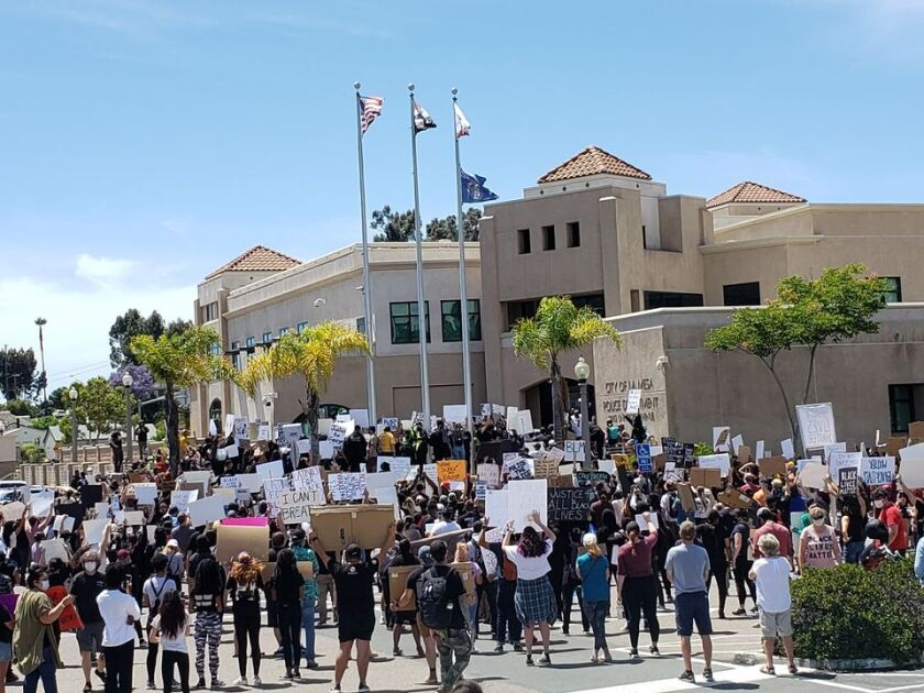 La Mesa heard a mid-term report from a company it hired to look into the events before and after a May 30 protest.