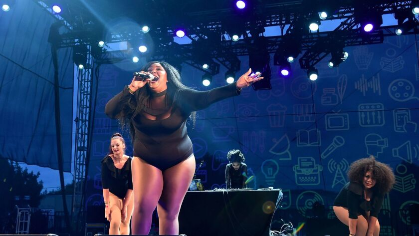 Lizzo performs in Los Angeles in October.