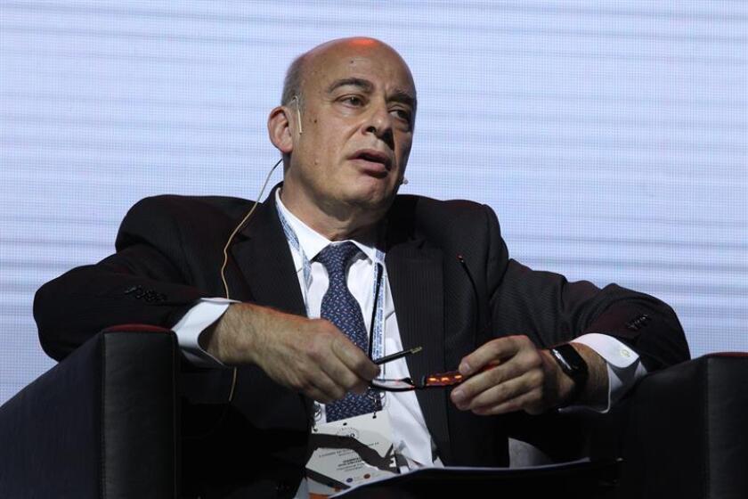 El argentino Gabriel Goldschmidt, director para América Latina de la Corporación Financiera Internacional (IFC, por su sigla en inglés), habla en el Urban 20, la primera cumbre de alcaldes del G20, que se celebra en Buenos Aires (Argentina). EFE
