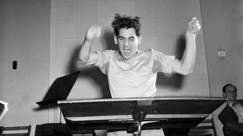 Leonard Bernstein Performing at Carnegie Hall