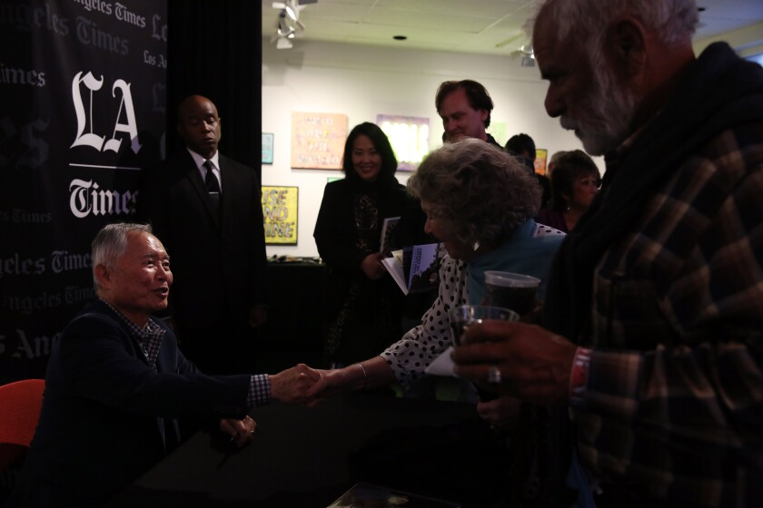 """George Takei chats with L.A. Times Book Club readers and signs copies of """"They Called Us Enemy."""""""