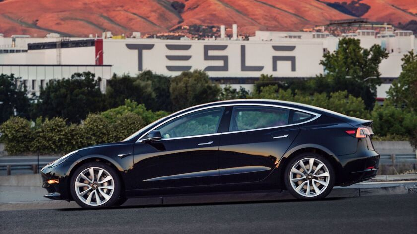 The Model 3. Price range: $35,000-$60,00. Black comes free with purchase. Other colors available fo