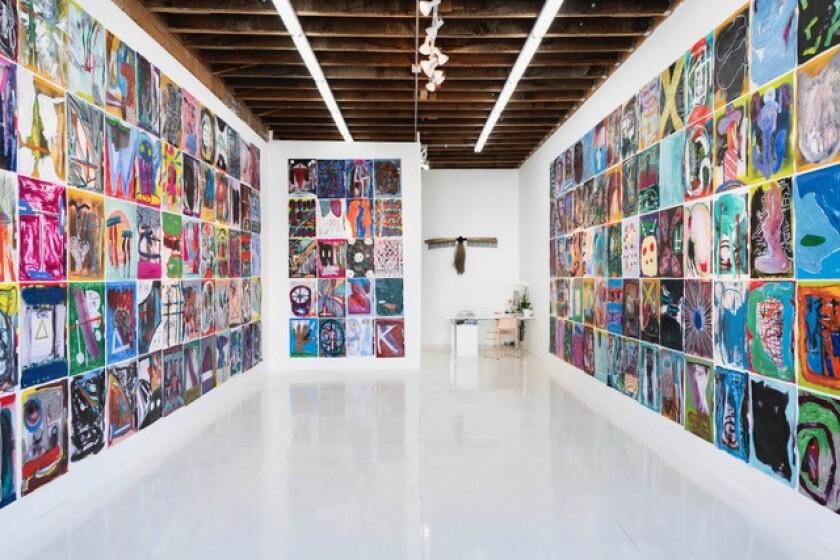 Michael Tedja has wallpapered the gallery