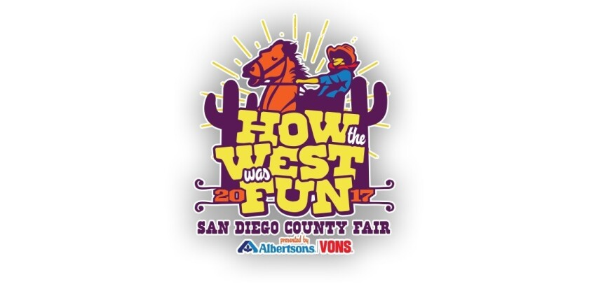 """This was the original logo for the 2017 San Diego County Fair. It will now be changed as the new 2017 fair theme will be """"Where the West is Fun."""""""