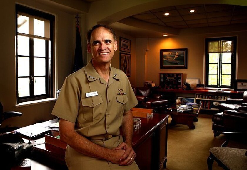 Vice Adm. Tom Kilcline, commander of naval air forces, is retiring Thursday from his post at North Island Naval Air Station.
