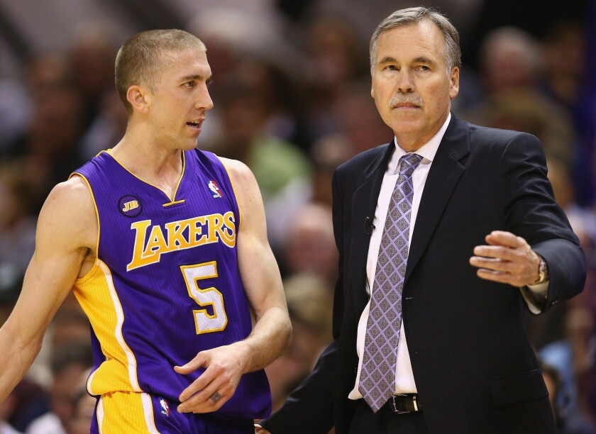 Lakers Coach Mike D'Antoni said he'd always wanted to coach Steve Blake -- and when Blake was healthy, D'Antoni got the chance.