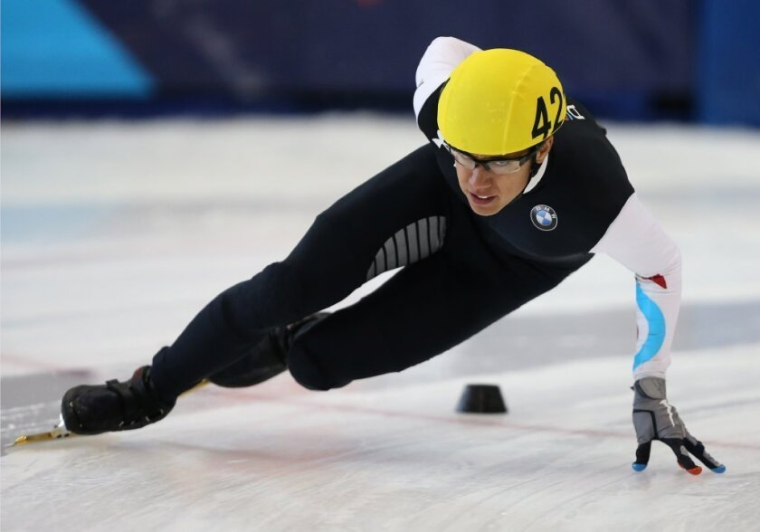 Speed skater J.R. Celski talks about rapper pal Macklemore