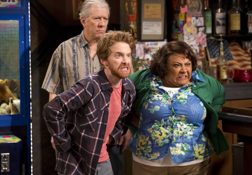 """Seth Green, center, and Tonita Castro star in the comedy series """"Dads."""""""