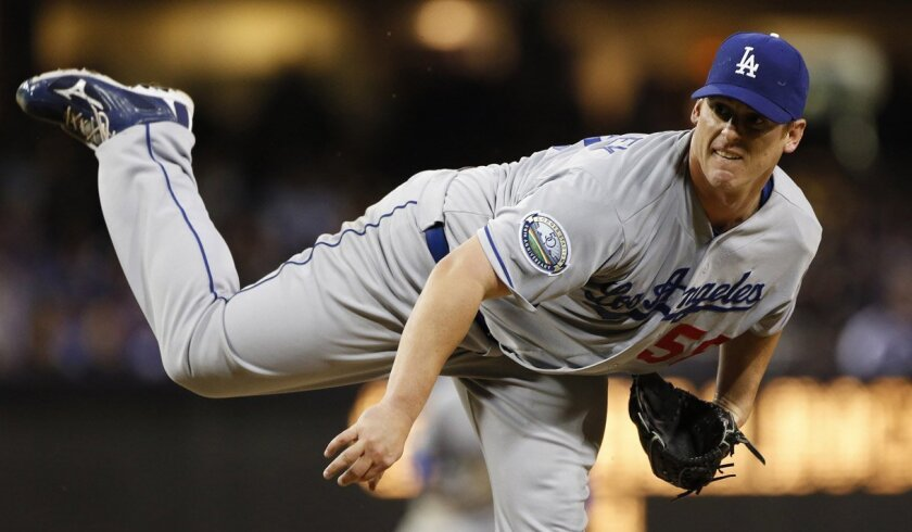 Dodgers starter Chad Billingsley allowed three hits and one walk in 8 1/3 innings against the Padres.