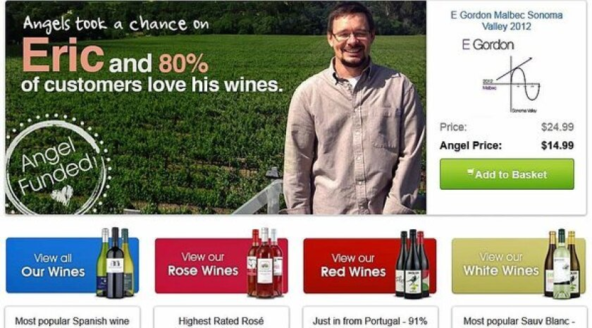 Screen shot of NakedWines website showing some of the winemakers who have been funded or are selling their wines on the site.