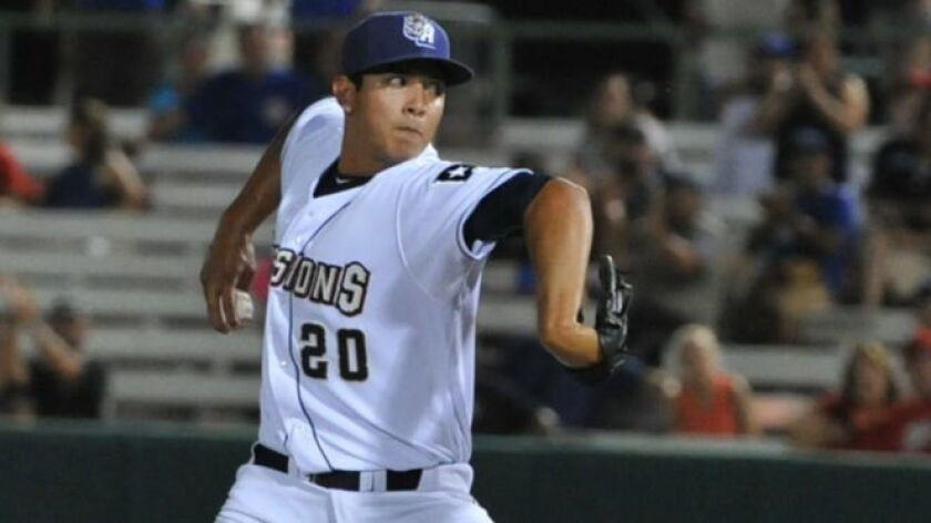 Padres relief prospect Andres Munoz was promoted to Double-A San Antonio at 19 years old.