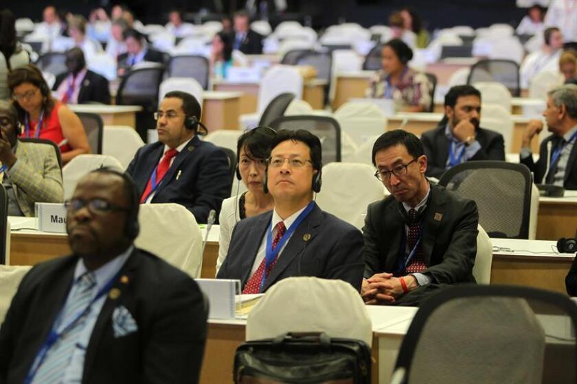 Vista general durante una ceremonia de la XIII Conferencia de las Partes del Convenio sobre Diversidad Biológica (COP13) en Cancún (México). EFE