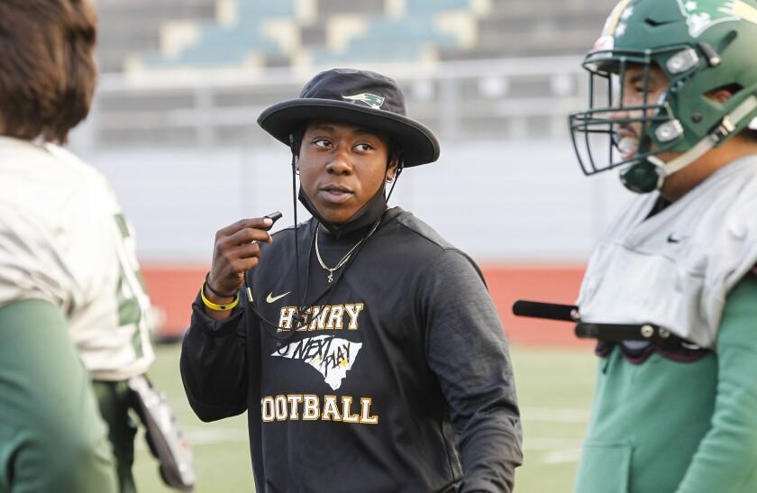 Offensive line coach Eboni Chambers