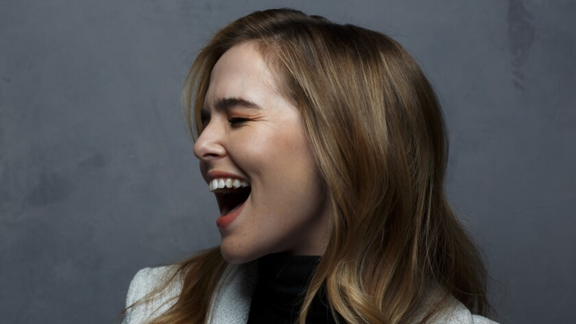 """Actress Zoey Deutch, star of """"Before I Fall,"""" at the Sundance Film Festival in Park City, Utah."""