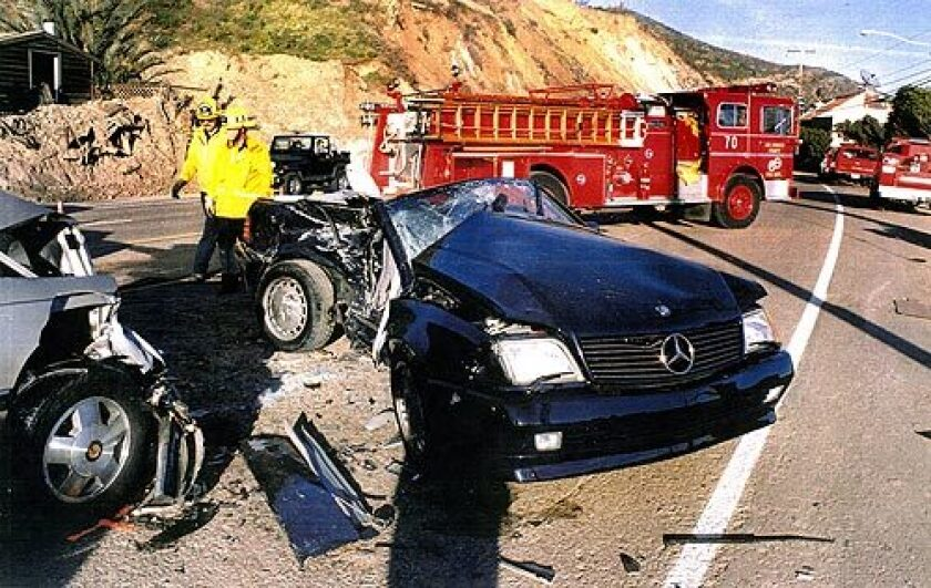 On Feb. 4, 1995, George Damaa was driving with his girlfriend to a restaurant in Malibu. His Mercedes-Benz crossed the center line and struck a Buick Reatta driven by John Masterson. Both cars were traveling 45 to 55 miles an hour, and Masterson, his wife Mary and Bucher were killed in the crash. Detectives found no evidence of speeding, drunken driving or other impairment, but a jury convicted Damaa of manslaughter by vehicular negligence and he was sentenced to three years in county jail.