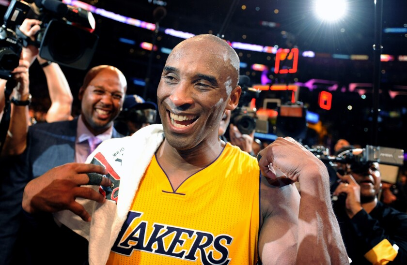 What's not to smile about? Kobe Bryant's last NBA game drew a host of celebrities.