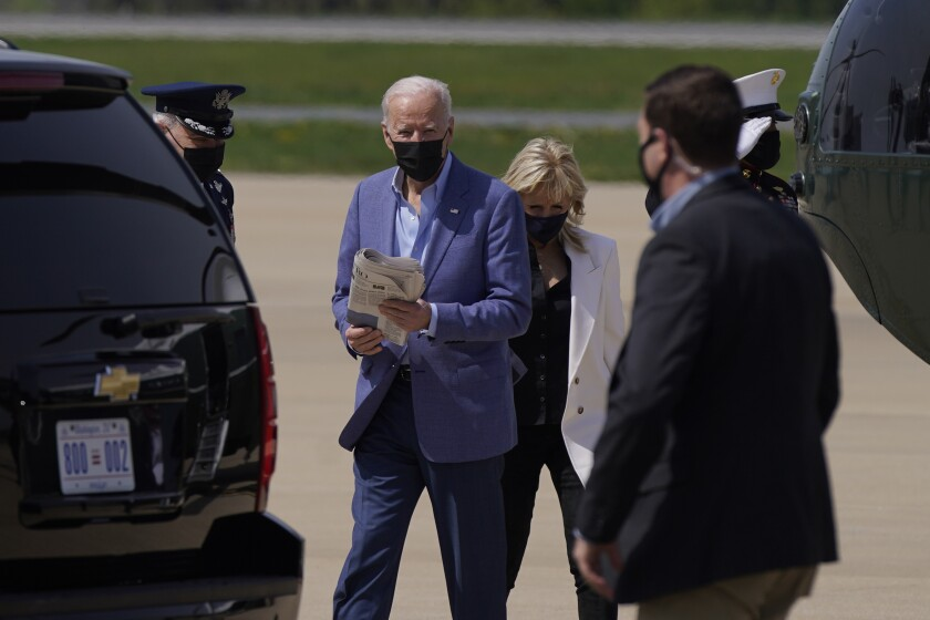 President Biden arrived in Delaware for the weekend shortly before his statement on the Armenian genocide was released.