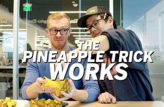The pineapple pull-apart trick is not a fake and actually works