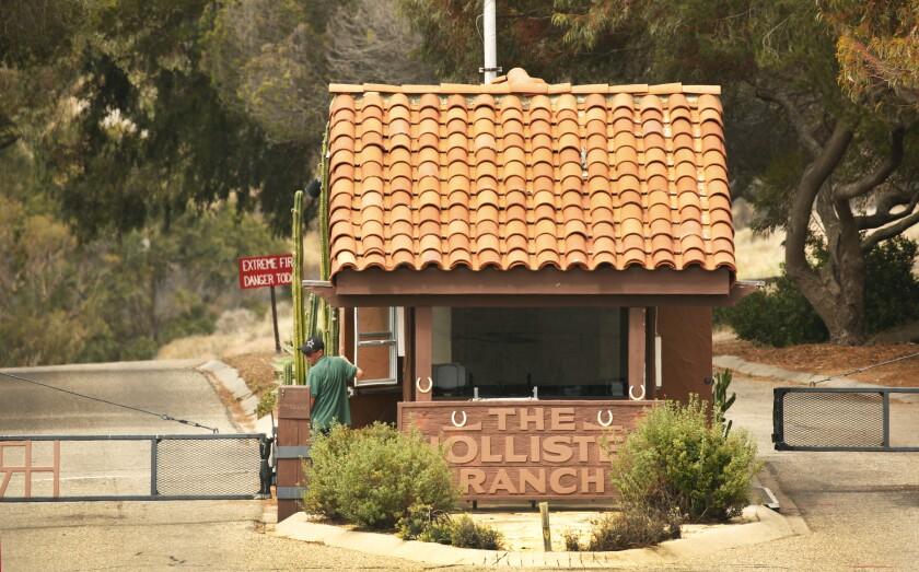 Hollister Ranch gatehouse