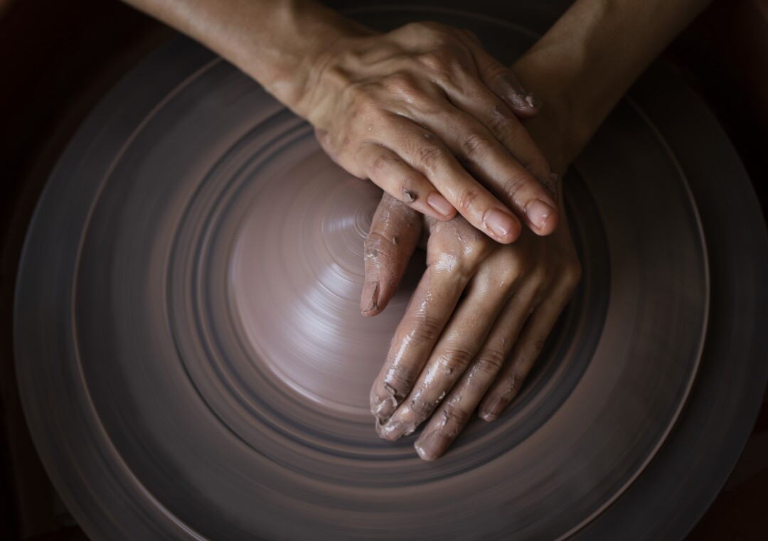 hand make clay with ceramic wheels