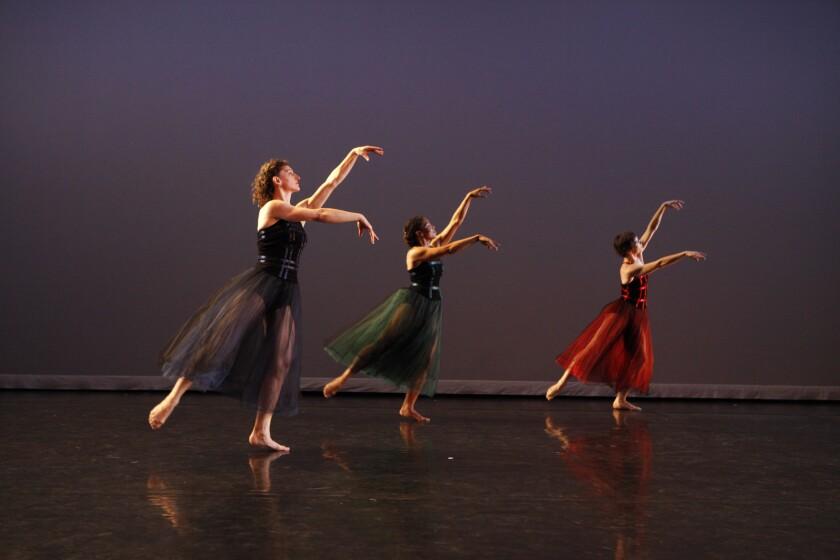 "Mark Morris Dance Group in ""The Muir,"" a work accompanied by Ludwig van Beethoven's arrangements of Celtic folk songs."