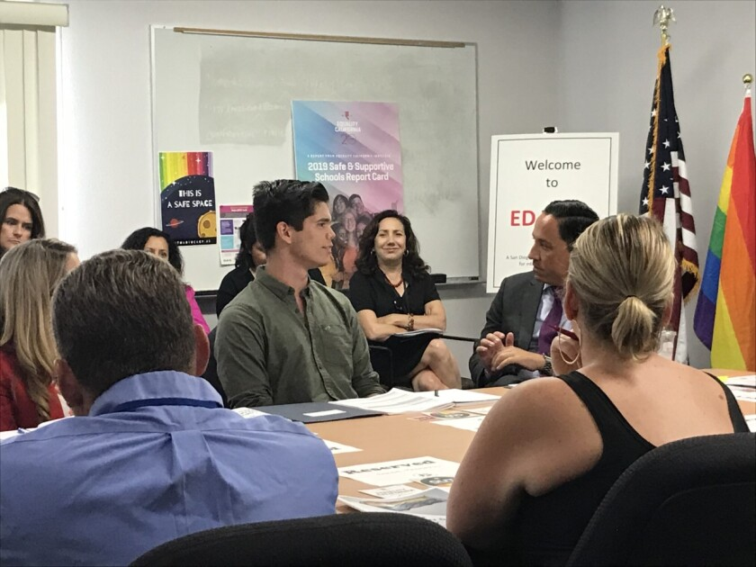 Equality California, students meet with Todd Gloria