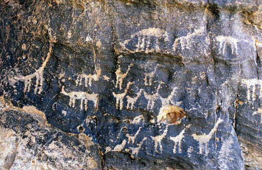 Wild species carved by early hunter-gatherers in Chad.