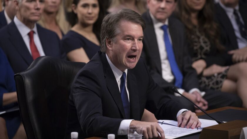 Brett Kavanaugh began answering senators' questions on Wednesday, the second day of his Judiciary Committee hearing.