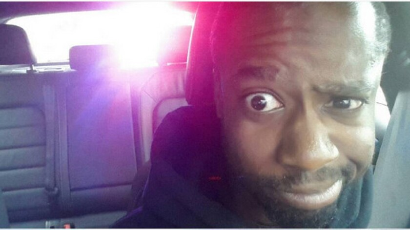 Louizandre Dauphin photographed himself after being pulled over by police and posted the image on Instagram.