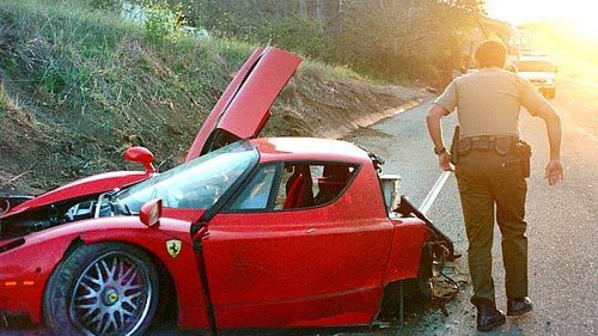 The Plot Thickens In Ferrari Crash Los Angeles Times
