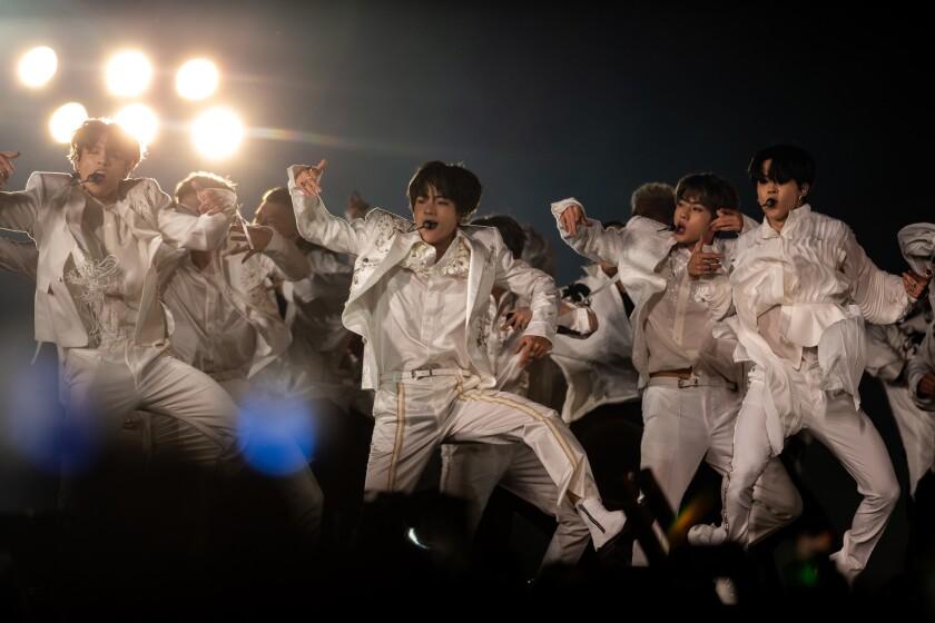 BTS at the Rose Bowl