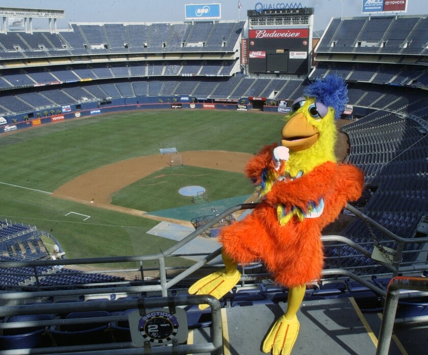 Ted Giannoulas, the Famous San Diego Chicken, ruled the roost at the stadium from virtually the moment he walked in 45 years ago.