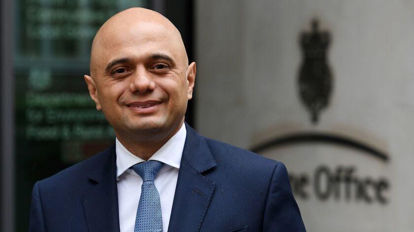 Sajid Javid appointed new Home Secretary following resignation of Amber Rudd, London, United Kingdom - 30 Apr 2018