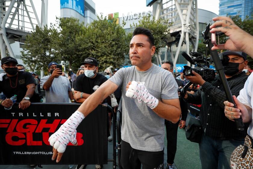 Oscar de la Hoya en Los Ángeles el 24 de agosto de 2021