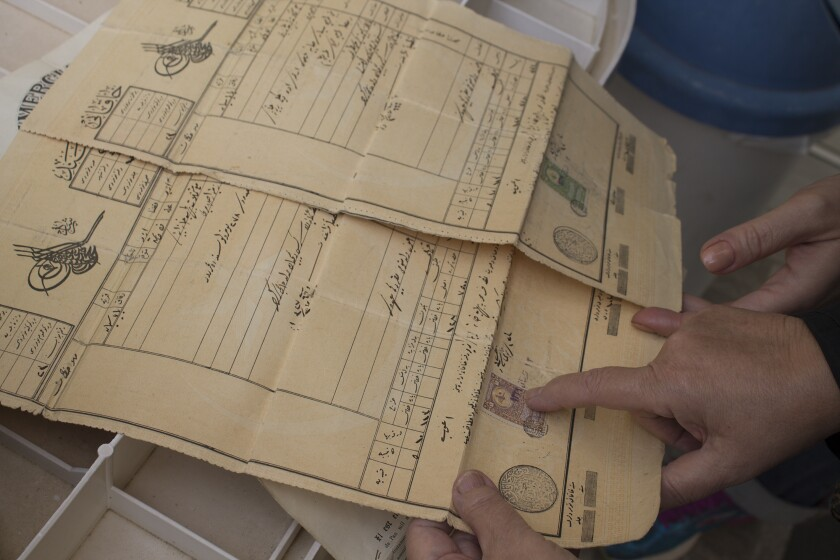 Deeds for properties included in one family's heirlooms