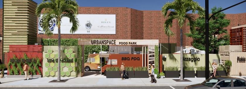 Glendale Galleria Urban Space Food Park