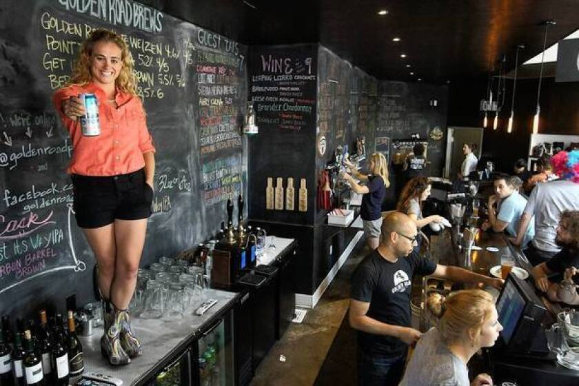Meg Gill, 26, is president of Golden Road Brewing.