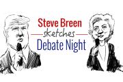 Steve Breen sketches debate night