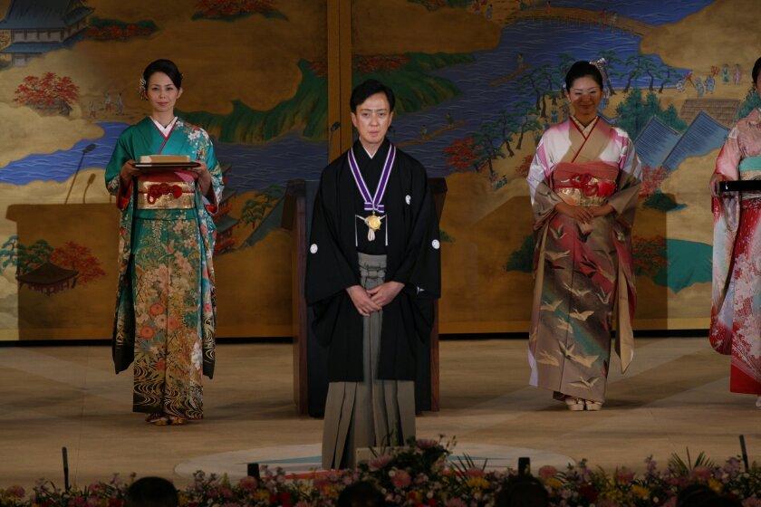 Tamasaburo Bando V at the Kyoto Prize ceremony in 2011.
