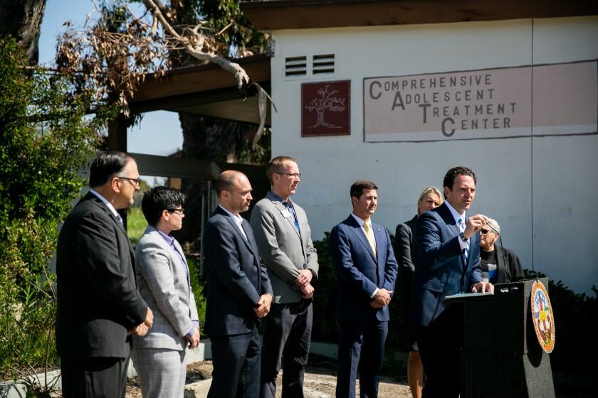 County Supervisor Nathan Fletcher announced a regional hub for behavioral health in 2019