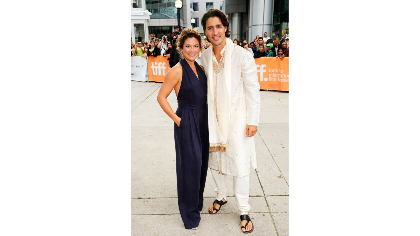 Sophie Gregoire and Justin Trudeau