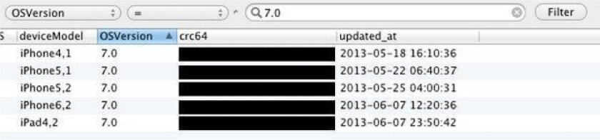 Server logs hint at new versions of iPhone and iPad running iOS 7