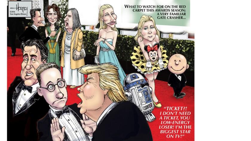 Will Donald Trump crash Hollywood's Golden Globes party?