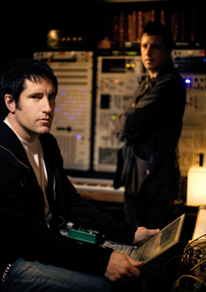 """Trent Reznor and Atticus Ross wrote the score for the movie """"Social Network."""""""