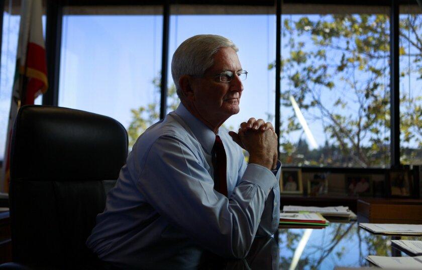 Sheriff Bill Gore, in his office. [U-T file]