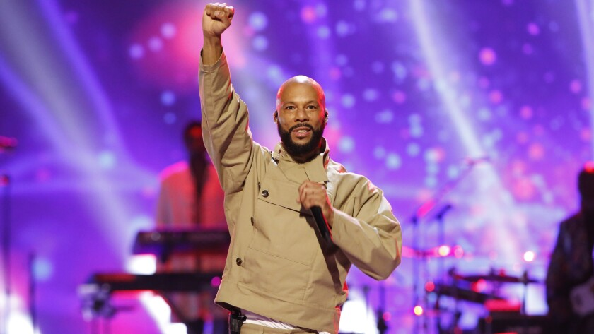 """Common in """"Let's Go Crazy: The Grammy Salute to Prince""""  on CBS."""