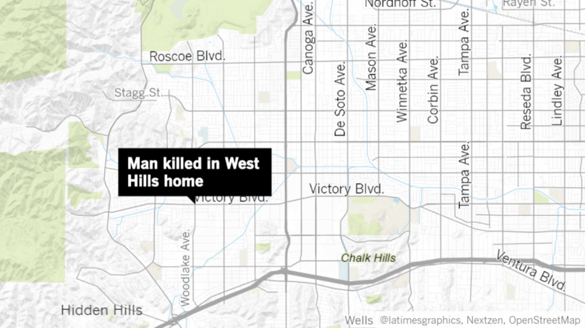 Map of a West Hills home where man was found dead