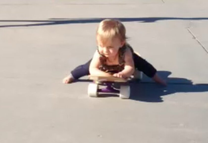 Meet Ava Osment, 17-month-old skateboard sensation